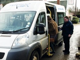 Citizens using the Essex and Suffolk Council minibus transport network