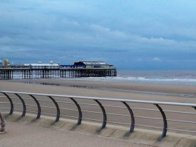 Blackpool pier in the distance