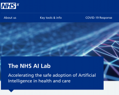 The NHSx AI website homepage