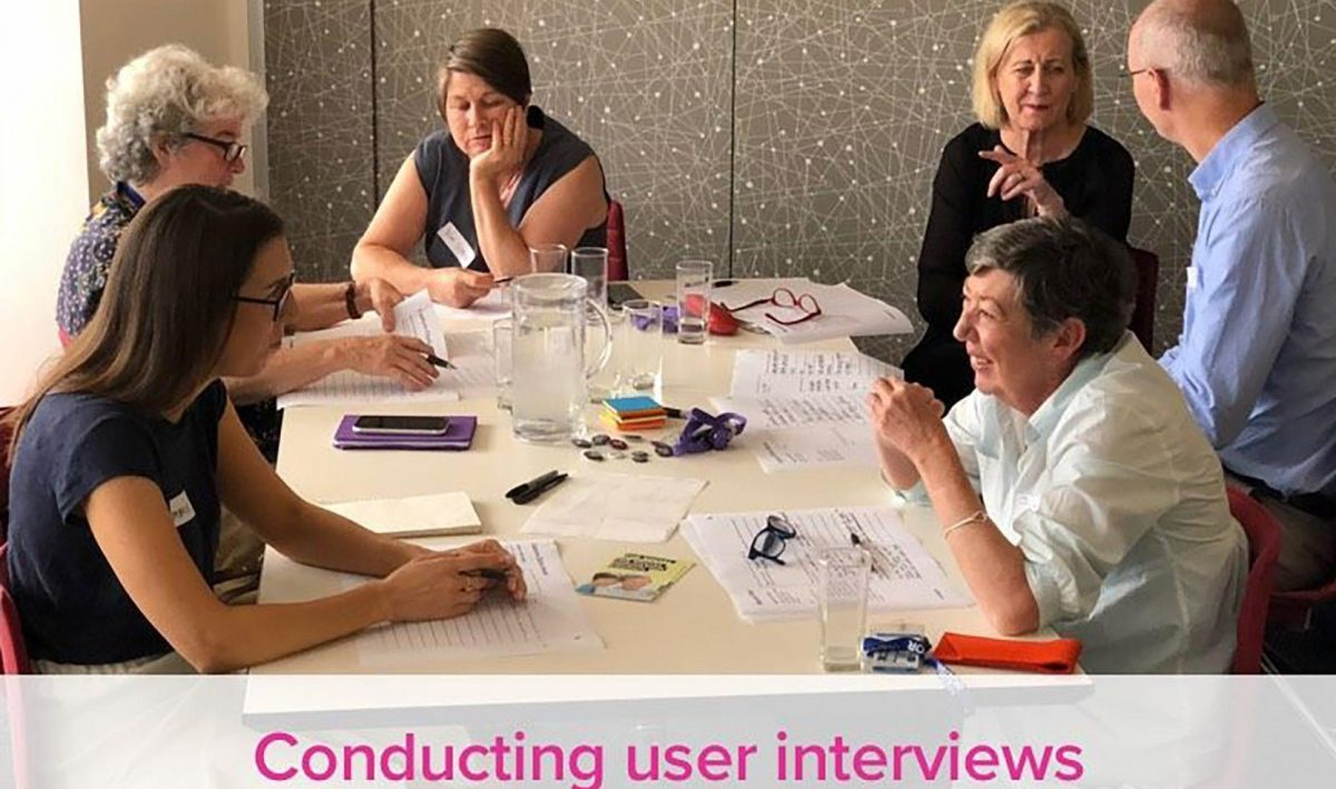 NSW NGO Conducting user interviews
